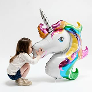Rainbow Unicorn Foil Balloons by ZiYan, Set of 2