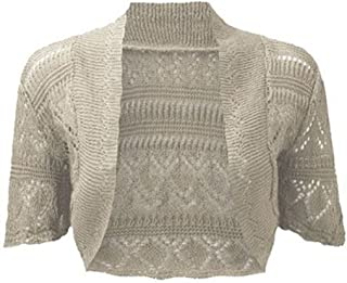 Women Ladies Crochet Knitted Shrug Cardigan Bolero Sweater