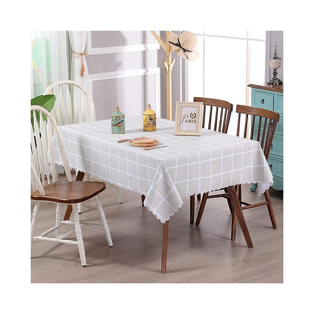 の面では子供達インゲンテーブルクロス、北欧のロマンチックでエレガントな屋内および屋外パーティーディナーウェディング長方形、ベージュの格子縞321(サイズ:100cm * 150cm)