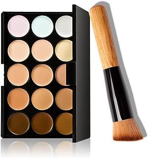 covermason 15colores de maquillaje paleta de corrector contorno + Pro maquillaje cepillo