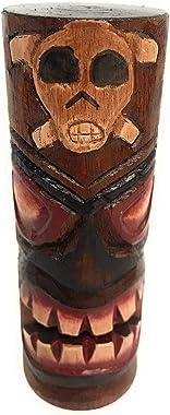 "Tiki Totem Pole 5"" w/Cross Bones - Skull Decor Hawaii | #dpt535812h"