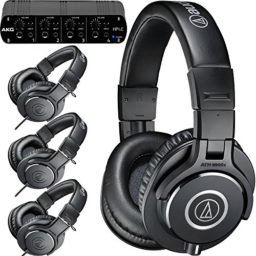 Why Should You Buy Audio-Technica ATH-PACK4 Studio Headphones 4-Pack with AKG HP4E Headphone Amplifi...