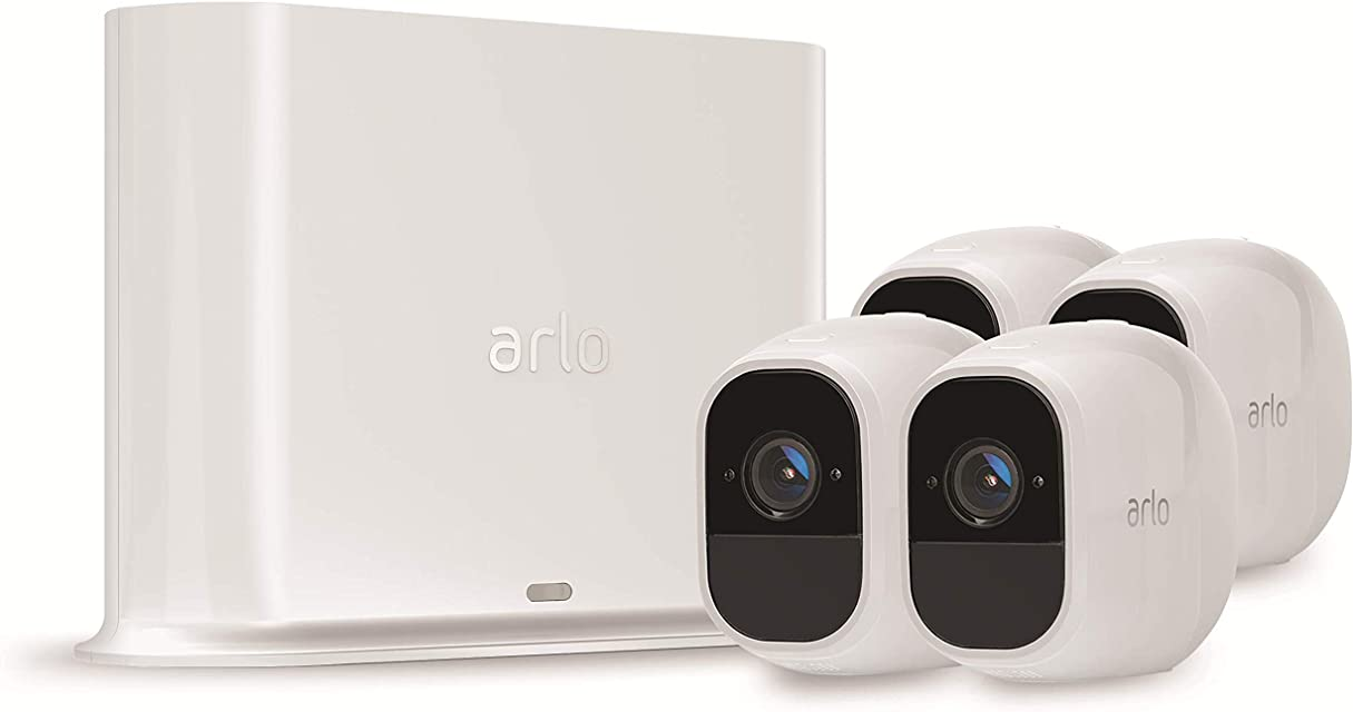 Arlo Pro 2 VMS4430P-100EUS - Sistema de seguridad y vídeo vigilancia de 3 cámaras sin cables 1080p HD (recargable interior/exterior visión nocturna audio bidireccional visión 130º)