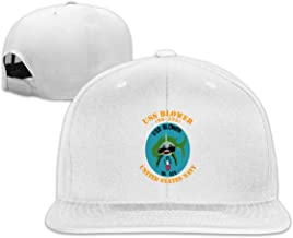 HUXIURONGping USS Blower (SS-325) Flat Bill Baseball Cap Snapback Hat Baseball Hat