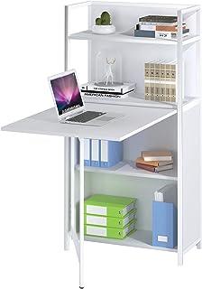 Mod. COMPACT Mesa Escritorio Blanco para Ordenador Mueble Armario estantería aparador