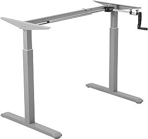 Marco de escritorio de ajuste de altura manual - Lugar de trabajo sentado o de pie, Maclean MC-790
