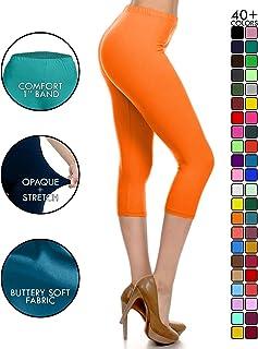 17f536633c6aa7 Leggings Depot High Waisted Capri Leggings - Soft & Slim - 37+ Colors