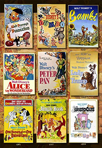 1000ピース ジグソーパズル ディズニー Movie Poster Collection Disney Animations (51x73.5cm)