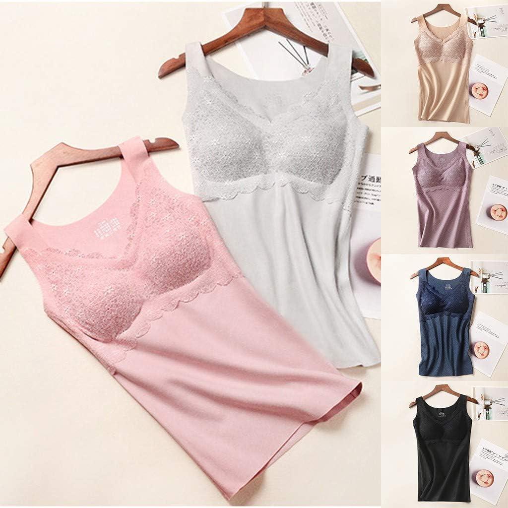 Woman Seamless Elastic Thermal Inner Wear Tank Underwear Seamless Elastic Vest Women's Everyday Underwear Panties