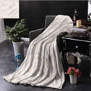 SSKJTC Cream Pom Pom Throw Blanket Romantic Japanese Wildflowers Bedroom Dorm Sofa Baby Cot Beach W60 xL50