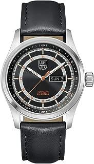 Atacama Field Automatic 1900 Series Watch Black, Sunray | Orange Dial Leather Black Strap XL.1901