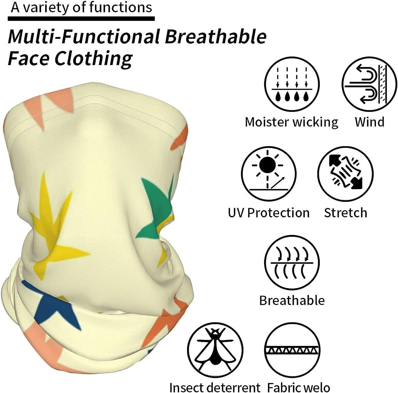 Stars Seamless Pattern Neck Gaiter Multipurpose Headwear Ice Silk Mask Scarf Summer Cool Breathable Outdoor Sport 2 Pcs