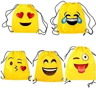 Original Mochila Decorativa Infantil Emoticonos. Material Escolar. Regalos Originales para Niños y Niñas. Petates y Bolsas. Detalles para Bodas, Cumpleaños, Bautizos y Bodas.