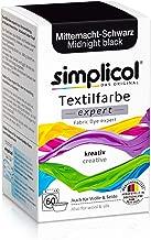 Simplicol Expert Fabric Dye Tinte de Coloración para Textiles: Lavado a Mano o Lavadora - Tiñe y Restaura Sus Telas y Ropa - Medianoche Negro