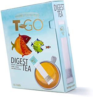 Sponsored Ad - T-Go Digest, On-The-Go Tea, Convenient, Support Gut Health Anywhere with Natural Herbal Ingredients, 15 Cou...