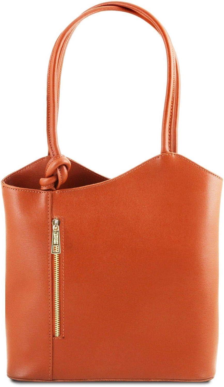 Tuscany Leather Patty Schultertasche aus Saffiano Leder Brandy B07PY84LSM  Förderung
