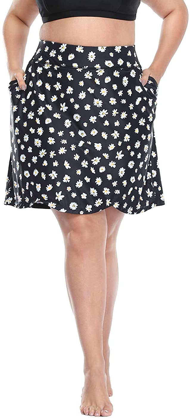 HDE Womens Plus Size Skort Skirt with Large-scale sale Bike Shorts Ranking TOP16 Sw Active Golf