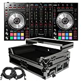 Pioneer Pro DJ DDJ-SX2 DJ Controller - Free ProX XS-DDJSX-WLT Case with laptop Shelf and XLR Cables, Software included