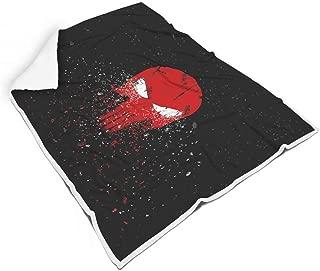 B4UGH-9 Blanket White Eye Red Skull Head Patterned Printed Premium Large Throws Blanket - Simple Winter Wear Suitable Use White 50x60 inch