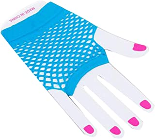 Fishnet Fingerless Mesh Gloves Short Sexy Punk Rock Costume for Night Party 1 Pair