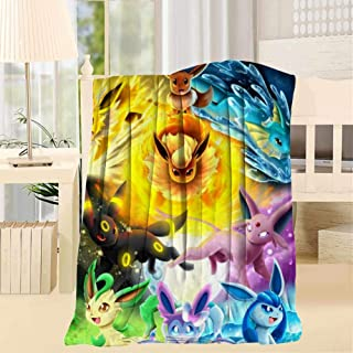 76PQZAF E-Evee Evolutions Sherpa Blanket Reversible Fuzzy Flannel Fleece Throw Blanket Twin Size for Couch/Living Room/Winter/Travel