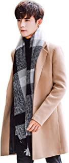 AIJUAN メンズ トレンチコート コート 長袖 ロング アウター 防寒 チェスターコート 秋冬 トップス 通勤 修身 カジュアル ビジネス ジャケット ゆったり ブルゾン デザイン ファッション ボタン