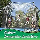 Trampolin Sprinkler Set Outdoor Trampolin Leiter Wasser Sprinkler Spielzeug mit Krawatten...
