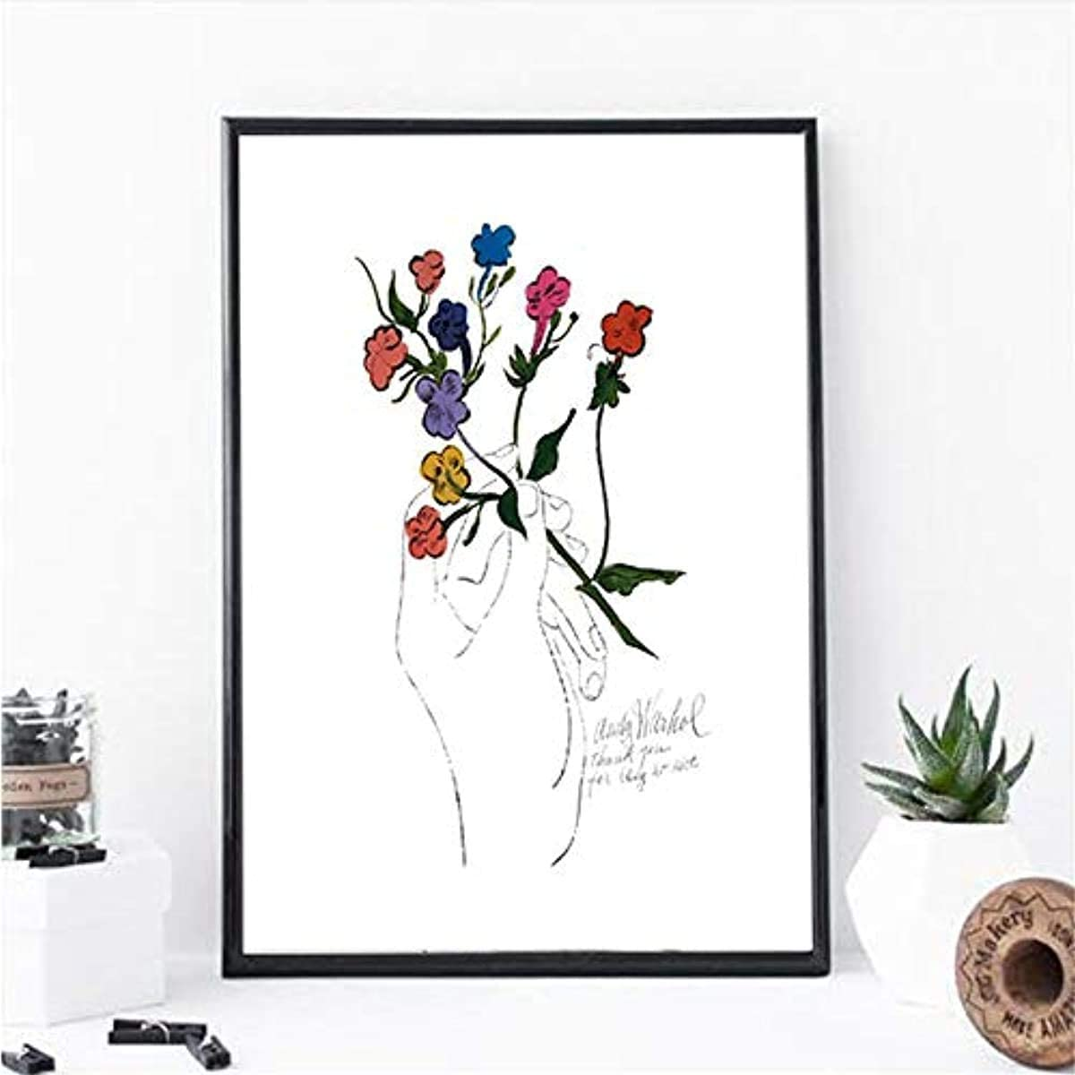 Surfilter Manufacturer direct delivery Canvas Painting Flower and Warhol Max 54% OFF Hand Andy Nordic Art