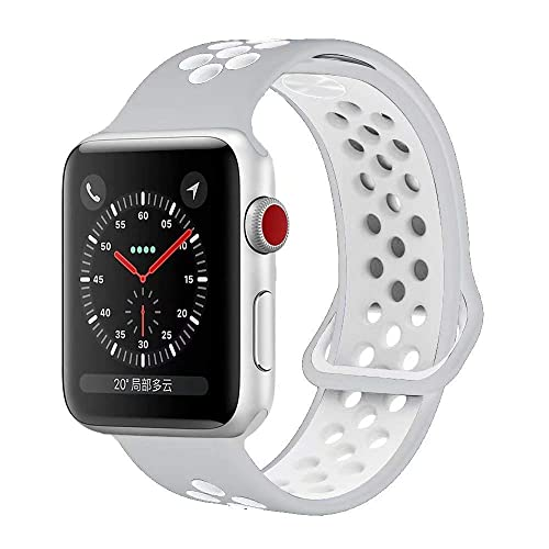 d066fab48 YC YANCH Compatible for Apple Watch Band 38mm 40mm 42mm 44mm,Soft Silicone Sport  Band