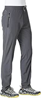 Jogger Pants for Men Lightweight Quick Dry Hiking Pants Workout Sweatpants with Pockets