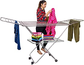 PARASNATH Prime Stainless Steel Butterfly Extra Large Foldable Cloth Dryer/Clothes Drying Stand - Made in India