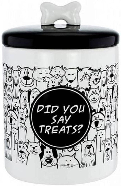 FineLife Ceramic Pet Treat Jar