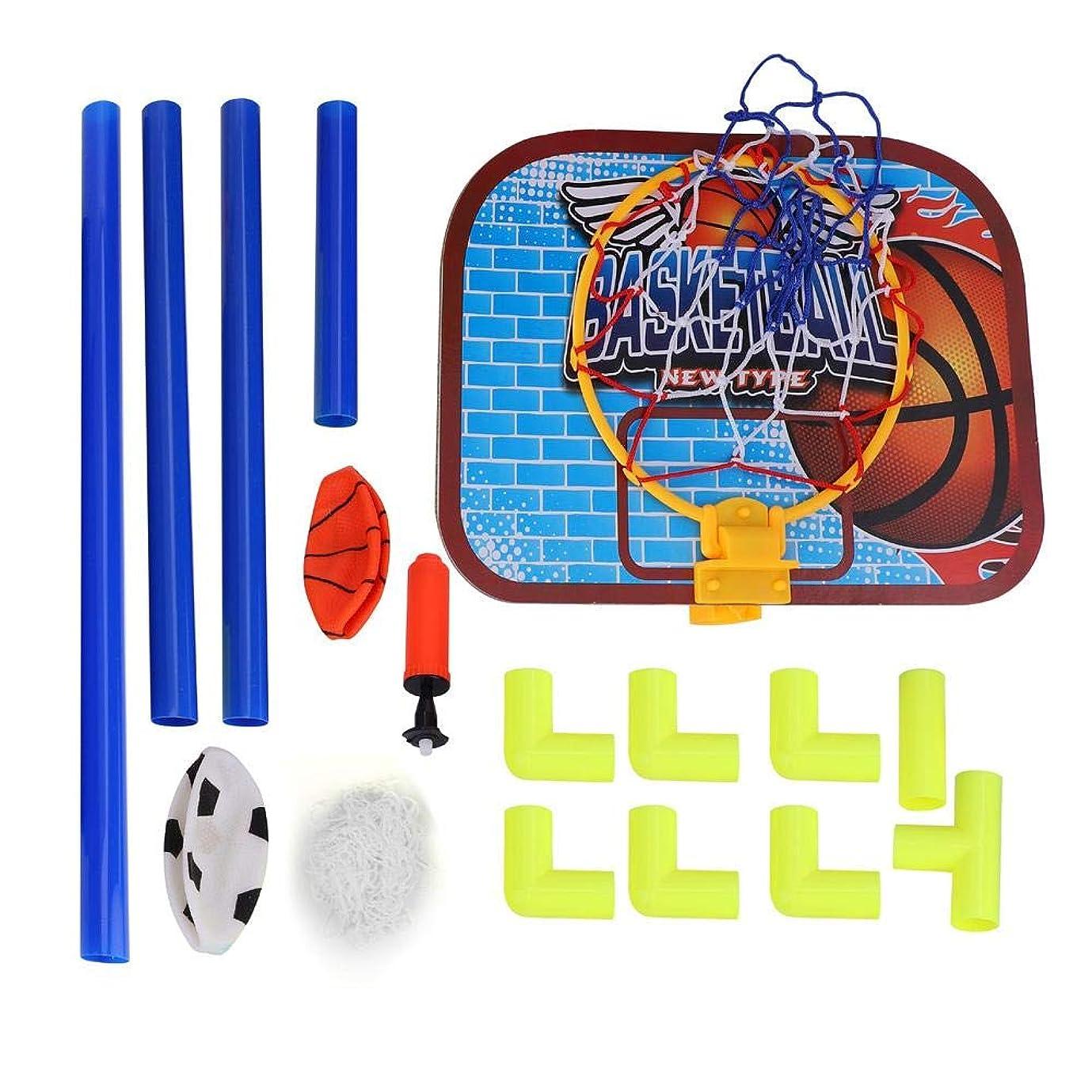 教師の日市町村すみません【2 in 1】サッカー&バスケットゴールセット 折り畳み 組み立て 移動式 簡易ゴール 子供向け 屋内屋外兼用 ポンプ付き キッズ玩具セット