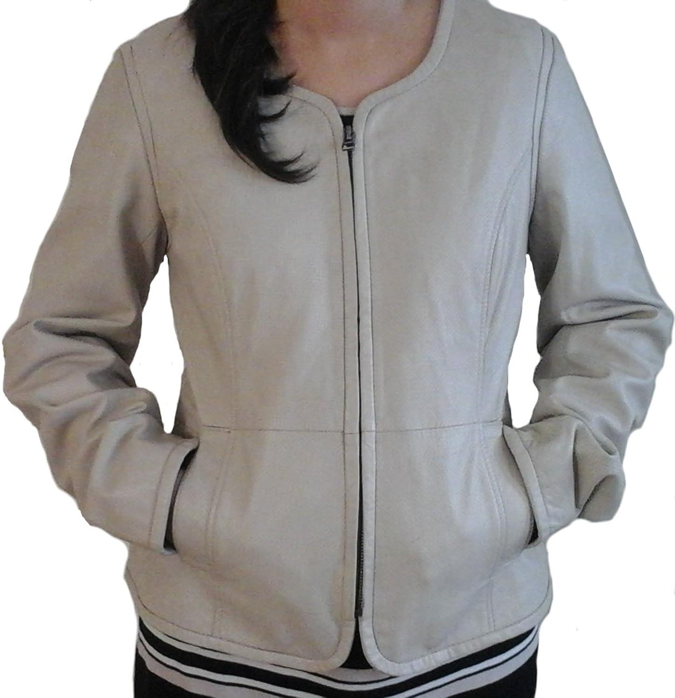 Classyak Women Fashion Real Leather Jacket, Punch Hole Design, Xs3xl