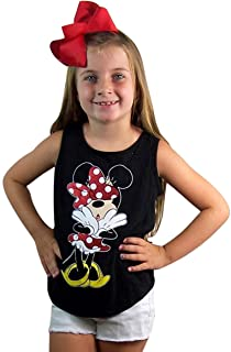 Minnie Mouse Black Uh Oh Open Back Tank for Girls
