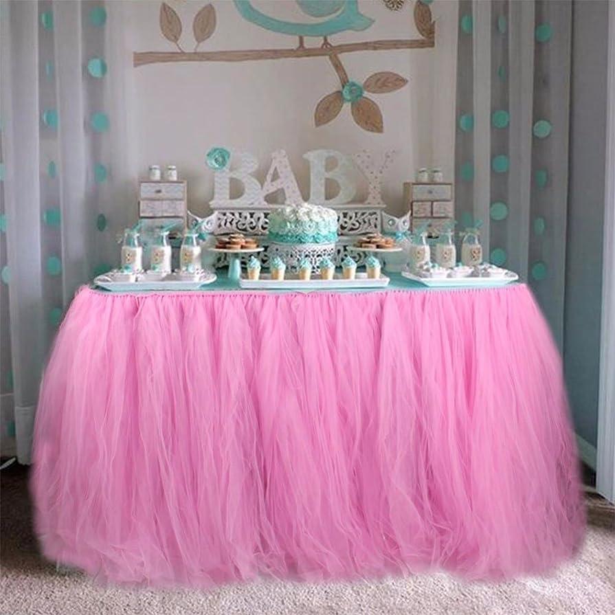 略語マラソン支払いKicode DIYテーブルクロス チュールテーブルスカートパーテ 表スカート 結婚式誕生日ベビーシャワー パーティーデスクインテリア
