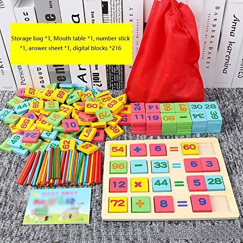 Alapet 3-6 Jahre alt Kinder Mathematik Computing Spielzeug Jungen Mädchen Früherziehung Lernspielzeug Puzzle Bausteine Intelligenz Entwicklung Eltern-Kind Interaktives Holzspielzeug