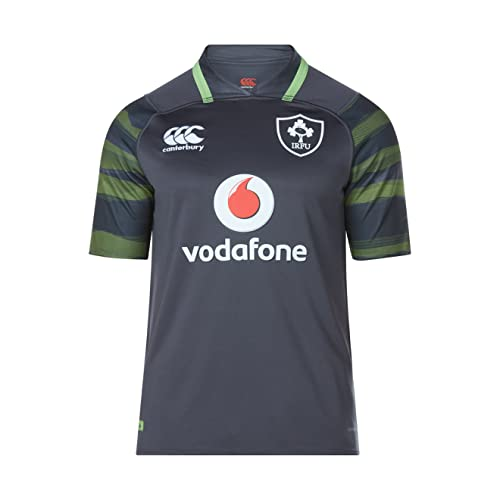 ab58640704d Canterbury Ireland Official 17/18 Mens Short Sleeve Alternate Pro Jersey,  Asphalt