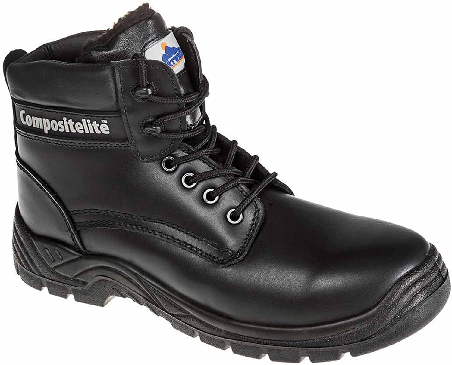 SUw - Compositelite Fur Lined Thor Workwear Ankle Workwear Ankle Boot S3 CI - Black - UK 7