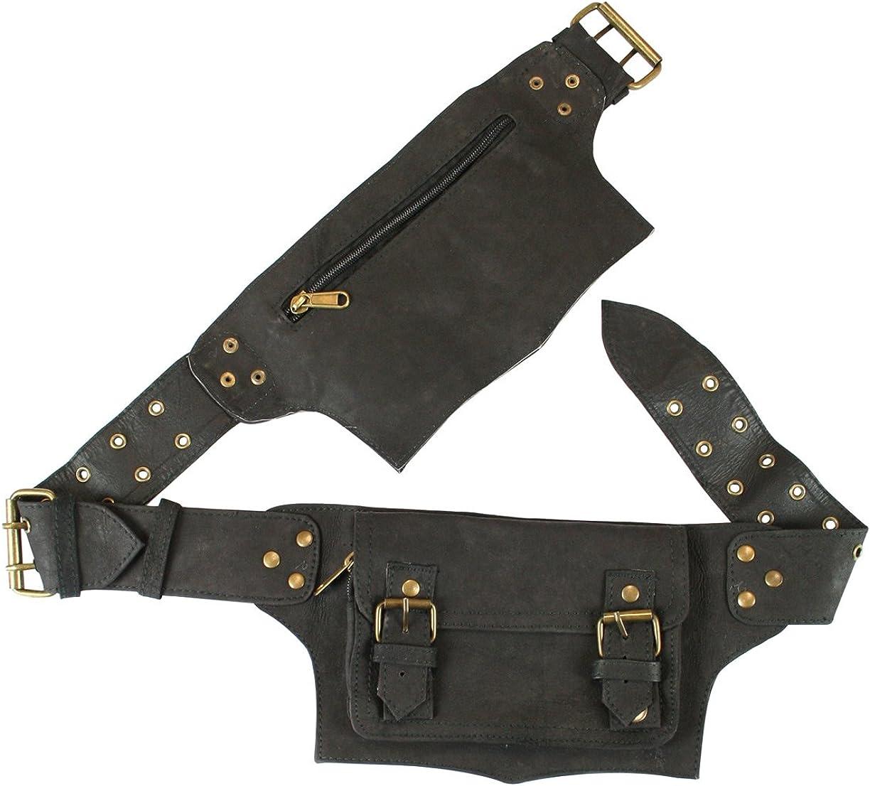 Historical Emporium Leather Steampunk Multi Pocket Utility Belt