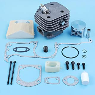 Corolado Spare Parts, 52mm Plated Cylinder Piston Gasket Kit for Husqvarna 61 Big Bore Jonsered 630 Super Chainsaw Intake Spacer Air Filter