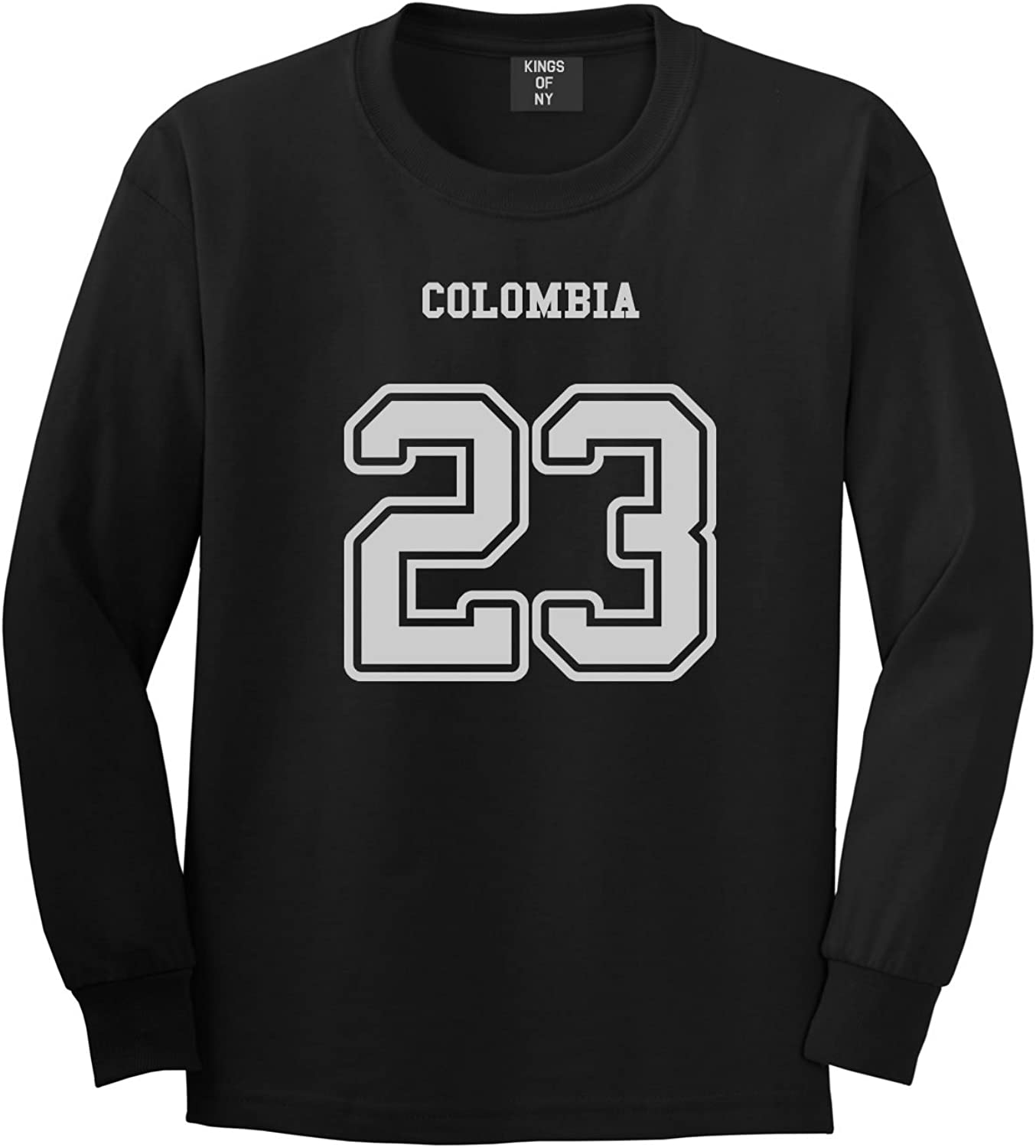 154a015ef Kings Of NY Country Country Country of Colombia 23 Team Sport Style Jersey Mens  Long Sleeve T-Shirt 5e133a