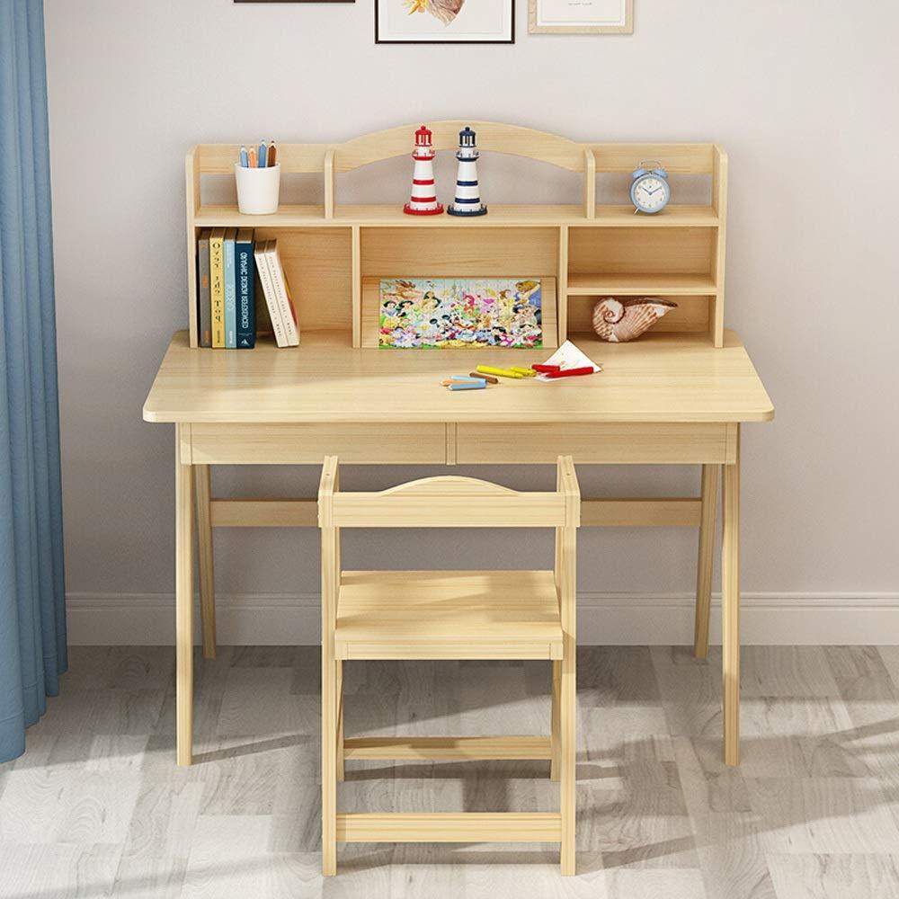 Silla y Mesa para niños Medios infantil Escritorio y silla de madera juego de escritorio de escritorio del dormitorio Estudiante gran regalo for las muchachas y los muchachos Adecuado para escritorios: Amazon.es: