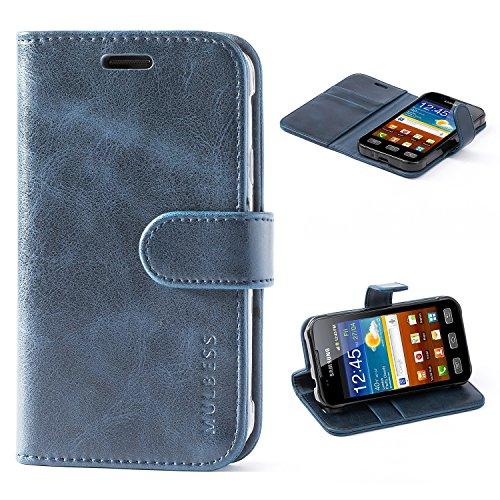 Mulbess Handyhülle für Samsung Galaxy XCover 3 Hülle Leder, Samsung Galaxy XCover 3 Handy Hüllen, Vintage Flip Handytasche Schutzhülle für Samsung Galaxy XCover 3 Hülle, Navy Blau