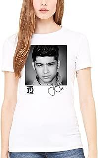 AWDIP Women's Official One Direction Zayn Solo Women's T-Shirt I Love 1D Teen Pop Music Zayn Malik