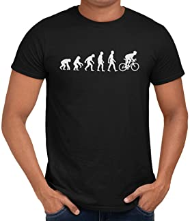 Evolution of Cycling - Camiseta unisex para hombre