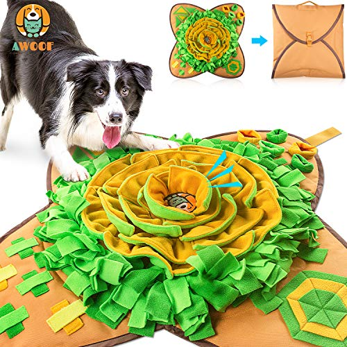 AWOOF Snuffle Mat Pet Dog Feeding Mat, Durable Interactive Dog Toys Encourages Natural Foraging Skills