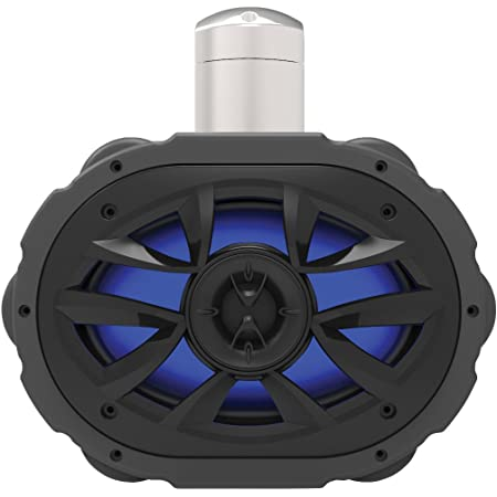 BOSS Audio Systems MRWT69RGB Marine Waketower Speaker System - 600 Watts Of Power, 6 x 9 Inch, Full Range, 2 Way, Multi-Color LED Illumination, Marine grade, Weatherproof, Sold Individually