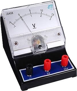 ULTECHNOVO Analog voltmeter 0–15 V mätinstrument elektrisk spänning voltmeter amperemeter experimentapparat för laboratori...