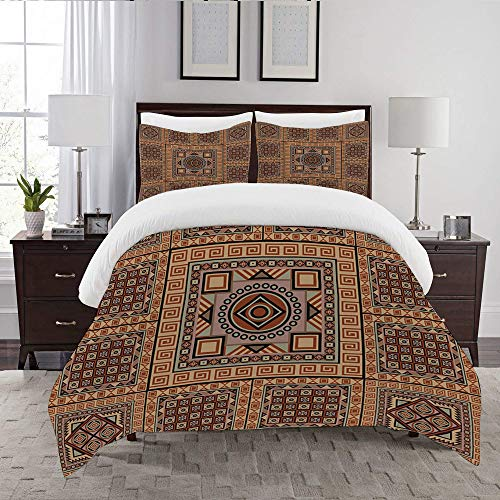 LENYOVO Duvet Cover Set-Bedding,Navajo Pattern 9,Quilt Cover Bedlinen-Microfibre 140x200cm with 2 Pillowcase 50x80cm